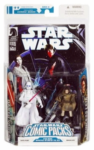 Star Wars 2009 Comic Book Action Figure 2-Pack Dark Horse: Infinites Return of the Jedi 3/4 White Vader & Princess Leia [Sniper]