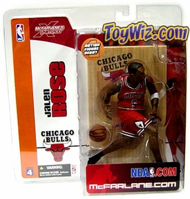 McFarlane Toys NBA Sports Picks Series 4 Action Figure Jalen Rose (Chicago Bulls) Red Jersey
