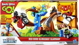 Angry Birds GO! Playskool Heroes Playset Red Bird Slingshot Slamway