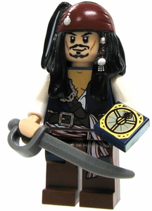 LEGO Pirates of the Caribbean LOOSE Mini Figure Captain Jack Sparrow [Cutlass & Compass]
