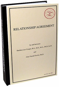 Bif Bang Pow! The Big Bang Theory Journal Relationship Agreement