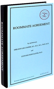 Bif Bang Pow! The Big Bang Theory Journal Roommate Agreement