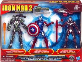 Iron Man 2 Movie Exclusive 4 Inch Action Figure 3-Pack Advanced Tactical Armor [War Machine, Iron Man Mark VI & Iron Man Mark V]