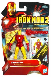 Iron Man 2 Comic 4 Inch Action Figure #28 Classic Iron Man