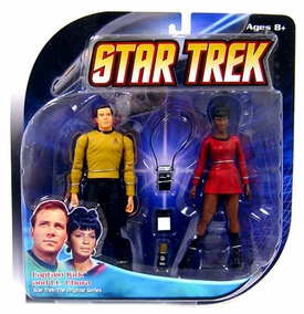 Diamond Select Toys Star Trek The Original Series Action Figure 2-Pack Captain Kirk & Lt. Uhura