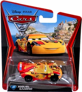 Disney / Pixar CARS 2 Movie 1:55 Die Cast Car #23 Miguel Camino Hot!