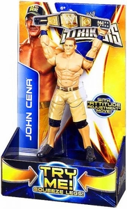 Mattel WWE Wrestling Super Strikers Action Figure John Cena [Title Belt is Cardboard, Not Plastic!]