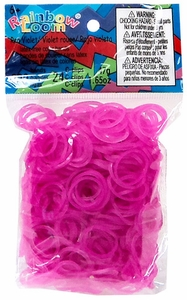 Official Rainbow Loom 600 Ct. Rubber Band Refill Pack *JELLY* Rose [Includes 25 C-Clips!] MEGA Hot!