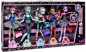Monster High Dance Class Doll 5-Pack [Rochelle Goyle, Gil Webber, Robecca Steam, Lagoona Blue & Operetta]