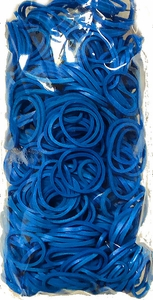 Official Rainbow Loom 600 Ct. Rubber Band Refill Pack Ocean Blue [Includes 25 C-Clips!]