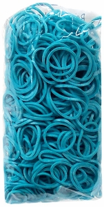 Official Rainbow Loom 600 Ct. Rubber Band Refill Pack Turquoise [Includes 25 C-Clips!]