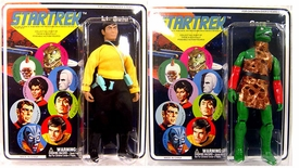 Diamond Select Star Trek Original Series Set of Both Series 7 Cloth Retro Action Figures [Sulu & Gorn]