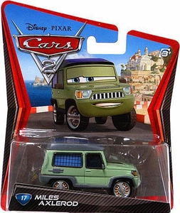 Disney / Pixar CARS 2 Movie 1:55 Die Cast Car #17 Miles Axlerod
