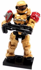 Halo Wars Mega Bloks LOOSE Mini Figure Gold UNSC Spartan Grenadier with Shotgun