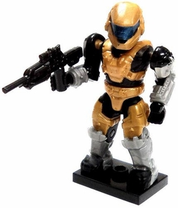 Halo Wars Mega Bloks LOOSE Mini Figure Gold UNSC Spartan Mark IV with DMR
