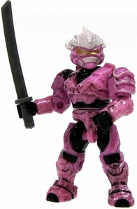 Halo Wars Mega Bloks LOOSE Mini Figure UNSC Pink Hayabusa Spartan with Katana