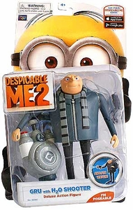 Despicable Me 2 Deluxe 5 Inch Action Figure Gru with H2O Shooter