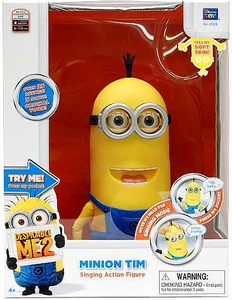 Despicable Me 2 DELUXE Singing Action Figure with Sound Minion Tim