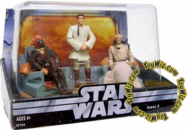 Star Wars Original Trilogy Action Figure Cinema Scenes Jedi High Council Plo Koon, Obi-Wan Kenobi & Eeth Koth
