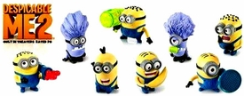 Despicable Me 2 McDonald's 2013 Set of 8 Happy Meal Figures [All Factory Sealed in Original Baggies]