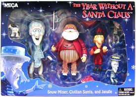 NECA The Year Without Santa Claus Action Figure Boxed Set Snow Miser, Santa Claus & Jangle