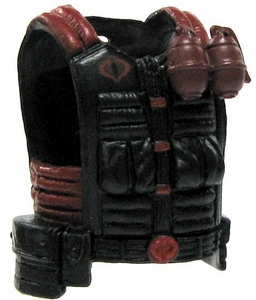 GI Joe 3 3/4 Inch LOOSE Action Figure Accessory Black & Red Cobra Flack Jacket