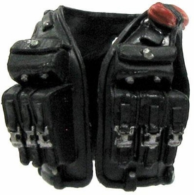 GI Joe 3 3/4 Inch LOOSE Action Figure Accessory Black Combat Vest with Ammo Pockets