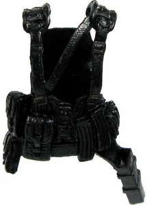 GI Joe 3 3/4 Inch LOOSE Action Figure Accessory Black Tactical Harness with Belt Sheath