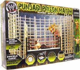WWE Wrestling Ring Punjabi Prison Match Playset [Includes Batista & Great Khali Action Figures]