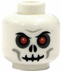 LEGO LOOSE Head Skull with Red Eyes