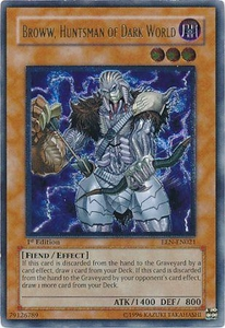 YuGiOh Elemental Energy ULTIMATE Rare Single Card EEN-EN021 Broww, Huntsman of Dark World