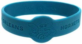 Official National Basketball Association NBA Team Rubber Bracelet New Orleans Hornets Teal Green BLOWOUT SALE!