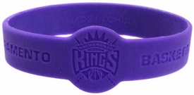 Official National Basketball Association NBA Team Rubber Bracelet Sacramento Kings [Purple]