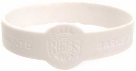Official National Basketball Association NBA Team Rubber Bracelet Sacramento Kings [White]