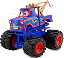 Disney / Pixar CARS Exclusive 1:55 Plastic Figurine LOOSE Tormentor [With Spinning Wheels!]