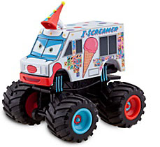 Disney / Pixar CARS Exclusive 1:55 Plastic Figurine LOOSE I-Screamer [With Spinning Wheels!]