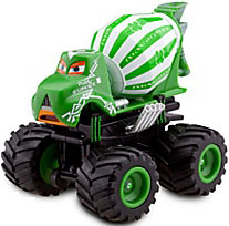 Disney / Pixar CARS Exclusive 1:55 Plastic Figurine LOOSE Paddy O' Concrete [With Spinning Wheels!]
