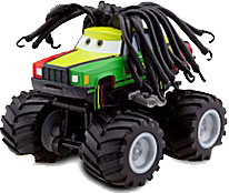 Disney / Pixar CARS Exclusive 1:55 Plastic Figurine LOOSE Rasta Carian [With Spinning Wheels!]
