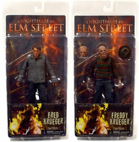 NECA A Nightmare on Elm Street Set of Both 7 Inch Freddy Krueger Action Figures [Demon & Human]