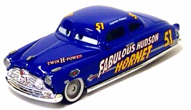 Fabulous Hudson Hornet (Silver Hub Caps) LOOSE Disney / Pixar CARS Movie 1:55 Die Cast Car