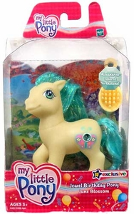 My Little Pony Exclusive Jewel Birthday Pony June Blossom