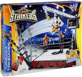 Mattel WWE Wrestling Super Strikers Turnbuckle Takedown Ring