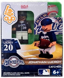 OYO Baseball MLB Generation 2 Building Brick Minifigure Jonathan Lucroy [Milwaukee Brewers]