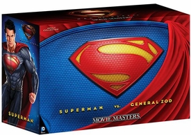Man of Steel Movie Masters 2013 SDCC San Diego Comic-Con Exclusive Deluxe Action Figure Set Superman Vs General Zod
