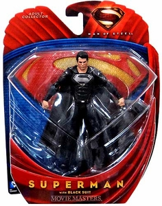 Man of Steel Movie Masters Action Figure Superman in Black Suit Costume
