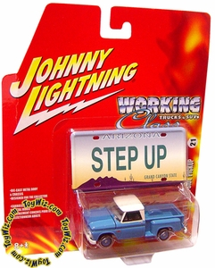 Johnny Lightning 1:64 Scale Diecast Car Trucks & SUV's #21 1964 Chevy Stepside P/U VARIANT (Blue Hub Caps)