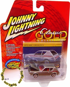 Johnny Lightning 1:64 Scale Diecast Car Classic Gold R30 1972 AMC Gremlin X VARIANT (No Tire Text & Different Hub Caps)