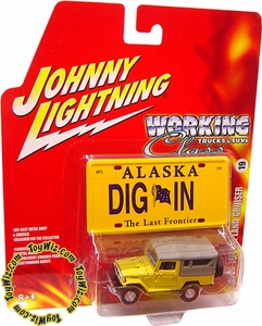 Johnny Lightning 1:64 Scale Diecast Car Trucks & SUV's R4 1980 Toyota Land Cruiser BJ-44 VARIANT (Chrome Hub Caps)