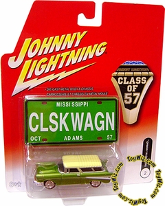 Johnny Lightning 1:64 Scale Diecast Car Class of '57 Chevy Nomad (No Whitewall & Different Hub Caps)