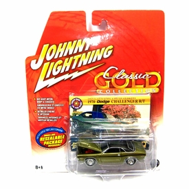 Johnny Lightning 1:64 Scale Diecast Car Classic Gold 1970 Dodge Challenger R/T